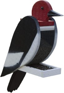 The Woodpecker Family Amish Handcrafted Bird Feeder